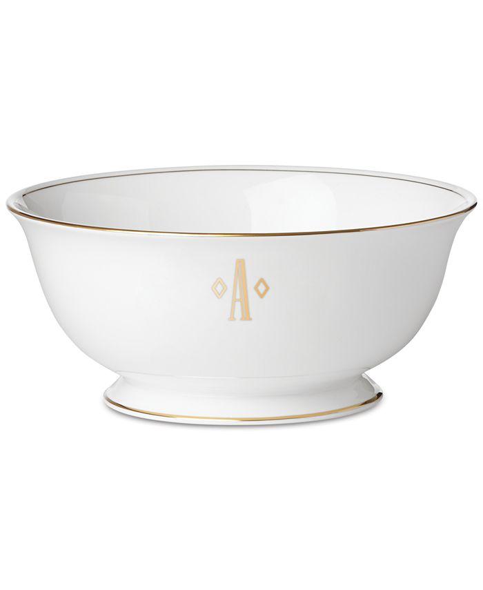 Lenox - Federal Gold Monogram Block Serving Bowl
