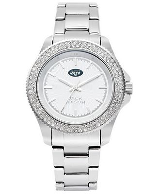 Jack Mason Women's New York Jets Glitz Sport Bracelet Watch