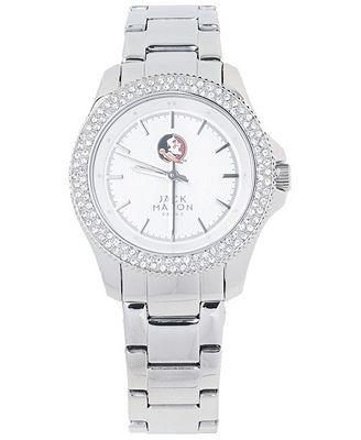 Jack Mason Women's Florida State Seminoles Glitz Sport Bracelet Watch