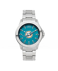 Jack Mason Men's Miami Dolphins Color Sport Bracelet Watch