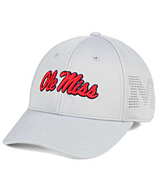 Top of the World Ole Miss Rebels Light Gray Rails Flex Cap