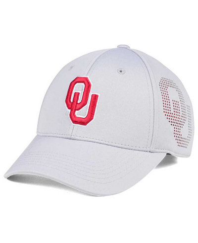 Top of the World Oklahoma Sooners Light Gray Rails Flex Cap
