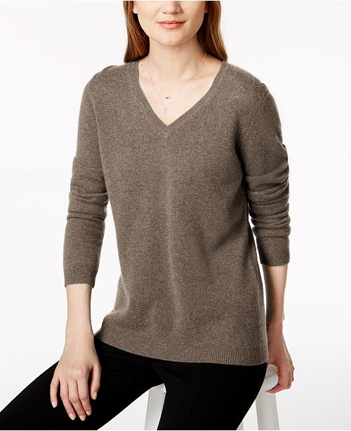 6742425520f Charter Club V-Neck Cashmere Sweater