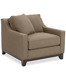 "Keegan 37"" Fabric Armchair - Custom Colors, Created for Macy's"