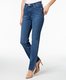 Lee Platinum Petite Gwen Straight-Leg Jeans, A Macy's Exclusive