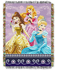 "Disney Princess ""Sparkle Dream""  48"" x 60"" Triple Woven Tapestry Throw"