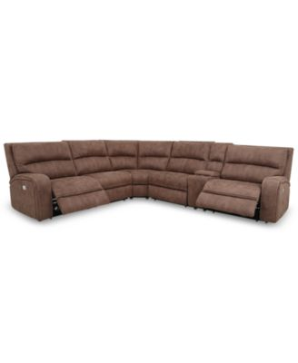 Exceptionnel Brant 6 Pc. Fabric Sectional Sofa With 2 Power Recliners, Power Headrests,