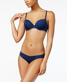 Litewear Mesh-Trim T-Shirt Bra & Bikini