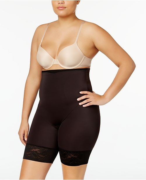 da49abfa0c9 ... Maidenform Women s Firm Foundations Curvy Plus Size Firm Control High  Waist Thigh Slimmer ...