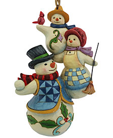 Jim Shore Stacked Snowman Family Hanging Ornament