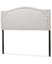 Aubrey Fabric Upholstered Queen Size Headboard, Quick Ship