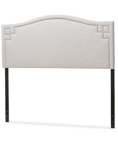 Aubrey Fabric Upholstered Queen Size Headboard, Quick Ship