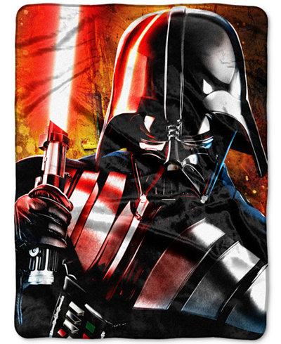 Star Wars Darth Vader Master of Evil Plush Throw by Disney