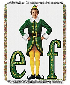 Warner Brothers Elf Movie Pose Triple Woven Tapestry Throw