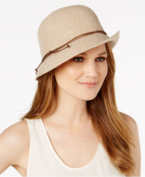 INC International Concepts I.N.C. Packable Bolo Cord Cloche, Created for Macy's