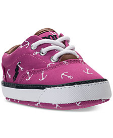 Polo Ralph Lauren Baby Girls' Vaughn II Layette Casual Sneakers from Finish Line