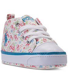 Polo Ralph Lauren Toddler Girls' Harbour High-Top Casual Sneakers from Finish Line