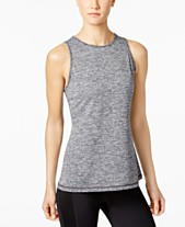 7af2cb9f Ideology Heathered Keyhole-Back Tank Top, Created for Macy's