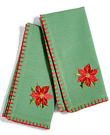 CLOSEOUT! Bardwil Poinsettia Set of 2 Napkins
