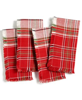 Holland Plaid Set of 4 Napkins, Created for Macy's