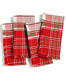 Homewear Holland Plaid Set of 4 Napkins, Created for Macy's