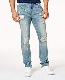 Men's Vintage Wash Distressed Jeans, Created for Macy's