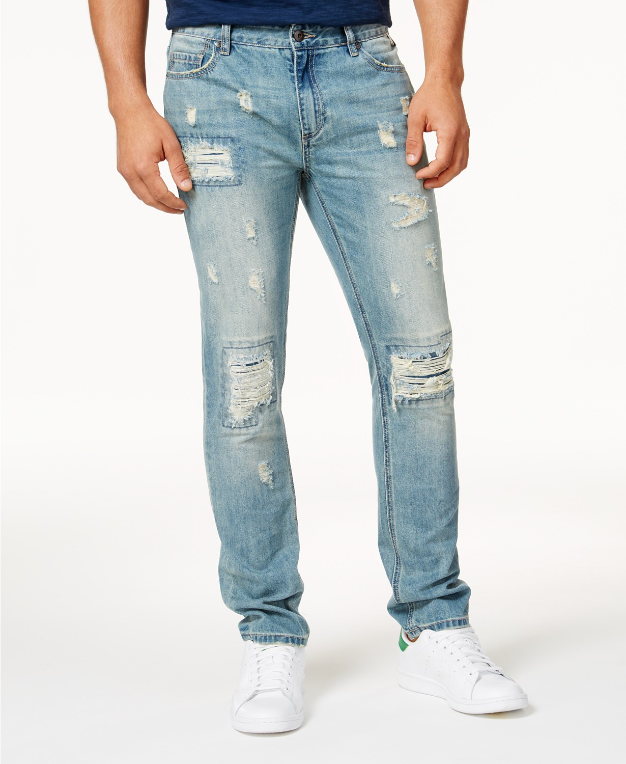 American Rag Men's Vintage Wash Distressed Jeans