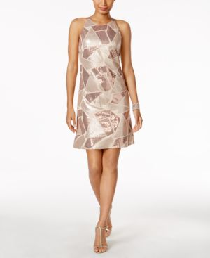 Vince Camuto Sequined A-Line Dress 4817489