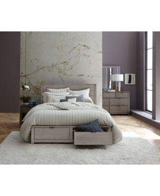 Tribeca Grey Storage Platform Bedroom Furniture Collection, Created For  Macyu0027s   Furniture   Macyu0027s