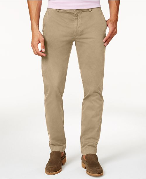 1c841d8387f238 Brooks Brothers Men's Slim-Fit Chinos & Reviews - Pants - Men - Macy's