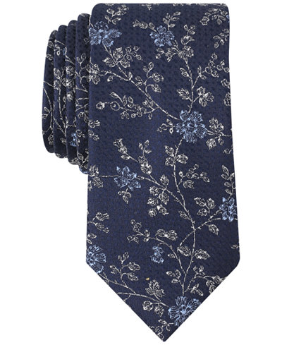 Bar III Men's Takoma Floral Skinny Tie, Created for Macy's