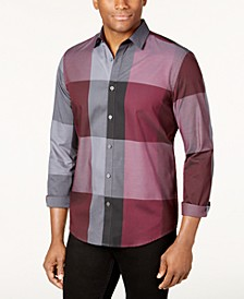 Men's Plaid Long-Sleeve Shirt, Classic Fit, Created for Macy's