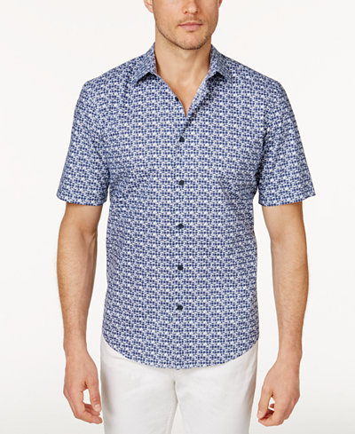 Alfani Men's Printed Shirt, Created for Macy's - Casual Button ...
