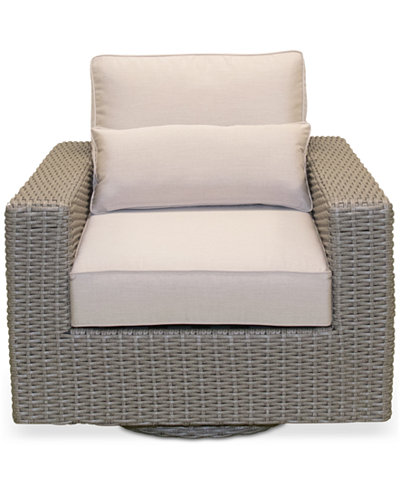 Del Mar Wicker Outdoor Swivel Chair, Created for Macy's
