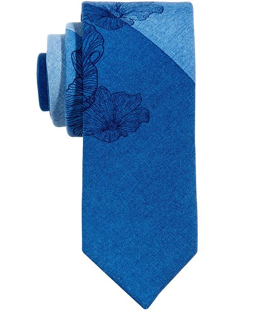 Bar III Men's Kennebunk Floral Skinny Tie, Created for Macy's