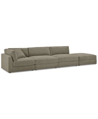 aryanna 4pc openended modular sectional custom colors created for