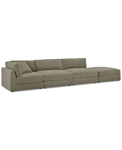 Aryanna 4-Pc. Open-Ended Modular Sectional - Custom Colors, Created for Macy's
