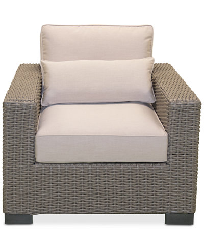 Del Mar Wicker Outdoor Club Chair, Created for Macy's