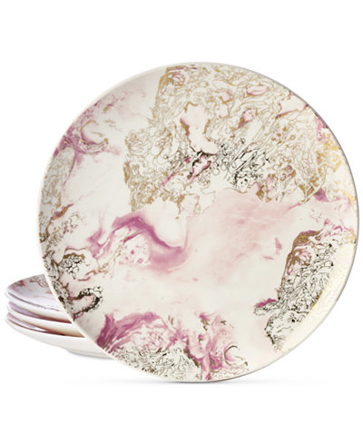 Martha Stewart Collection Harvest 4-Pc. Marbled Salad Plate Set, Created for Macy's