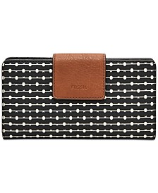 Fossil Emma Printed Leather RFID Tab Wallet