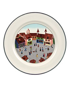 Design Naif Dinner Plate Old Village Square