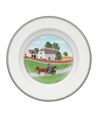 Dinnerware, Design Naif Rim Soup Bowl Going to Market