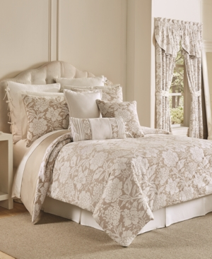 Croscill Nellie 4Pc Floral Queen Comforter Set Bedding