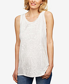 A Pea In The Pod Maternity Embroidered Linen Tank Top