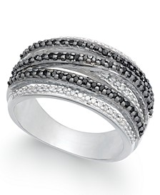 Diamond Weave-Style Statement Ring (1/2 ct. t.w.) in Sterling Silver