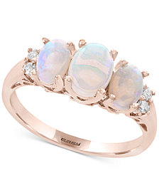 EFFY® Opal (1 ct. t.w.) & Diamond Accent Ring in 14k Rose Gold