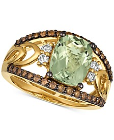 Chocolatier® Mint Julep Quartz (2-5/8 ct. t.w.) & Diamond (5/8 ct. t.w.) Ring in 14k Gold