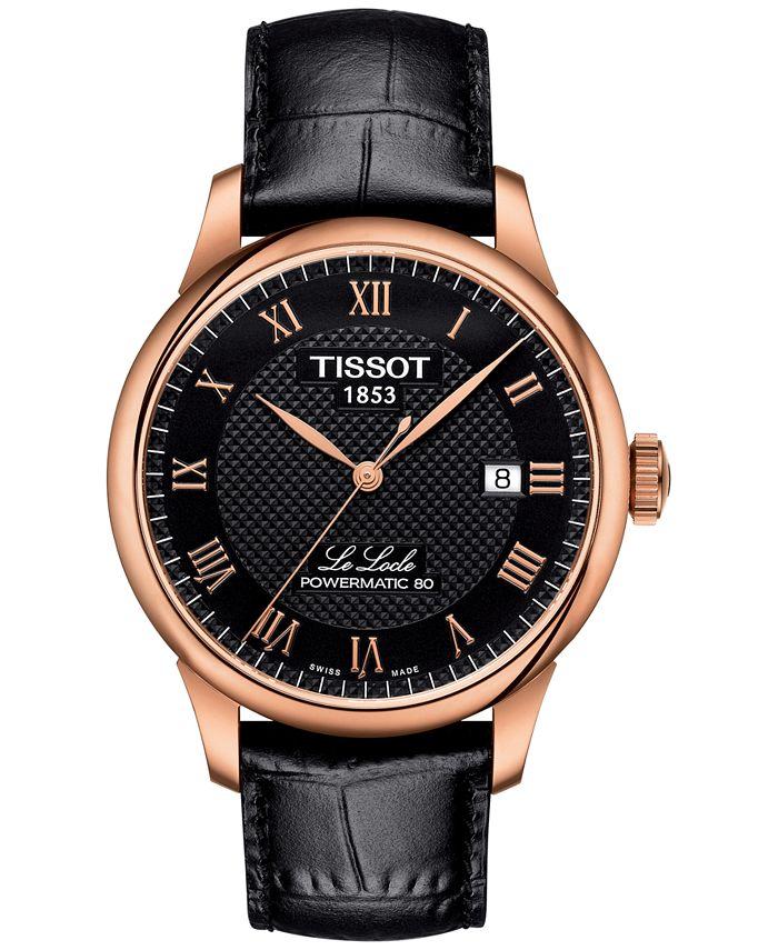 Tissot - Men's Swiss Le Locle Black Leather Strap Watch 40mm