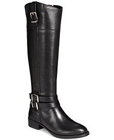 I.N.C. Frankii Wide-Calf Riding Boots, Created for Macy's