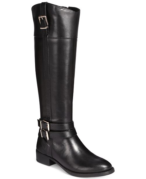 60556ccc27a INC International Concepts I.N.C. Frankii Wide-Calf Riding Boots ...